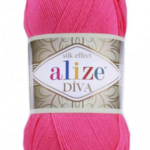 Fir de tricotat sau crosetat - Fir microfibra ALIZE DIVA ROZ 561