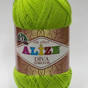 Fir de tricotat sau crosetat - Fir microfibra ALIZE DIVA STRETCH VERNIL 612