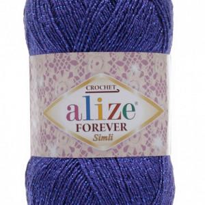 Fir de tricotat sau crosetat - Fir microfibra ALIZE FOREVER SIMLI ALBASTRU 141