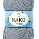 Fir de tricotat sau crosetat - FIR NAKO DENIM GRI 11581