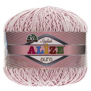 Fir de tricotat sau crosetat - Fire Alize Aura - Pudra - 161