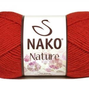 Fir de tricotat sau crosetat - Fire amestec Bumbac + Acril + Vascoza NAKO NATURE Rosu 10055