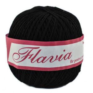 Fir de tricotat sau crosetat - Fire Bumbac 100% FLAVIA ROMANOFIR BOBINA NEGRU 1201