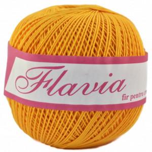 Fir de tricotat sau crosetat - Fire Bumbac 100% FLAVIA ROMANOFIR BOBINA GALBEN 1313