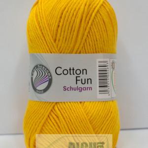 Fir de tricotat sau crosetat - Fire Bumbac 100% GRUNDL COTTON FUN GALBEN 04