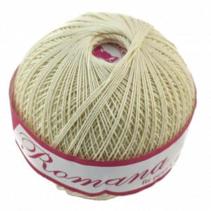 Fir de tricotat sau crosetat - Fire Bumbac 100% ROMANA - ROMANOFIR BOBINA CREAM 1203