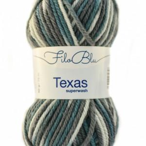 Fir de tricotat sau crosetat - Fire din lana 100% Filo Blu - Texas - 03