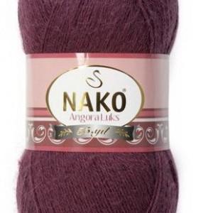 Fir de tricotat sau crosetat - Fire tip mohair acril NAKO ANGORA LUKS MOV 11597