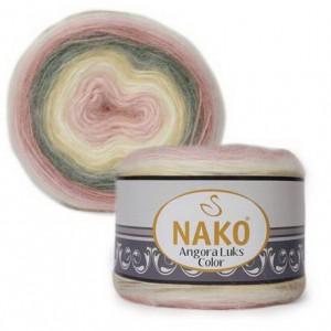 Fir de tricotat sau crosetat - Fire tip mohair acril NAKO ANGORA LUKS COLOR 81904
