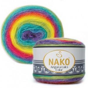 Fir de tricotat sau crosetat - Fire tip mohair acril NAKO ANGORA LUKS COLOR 81920