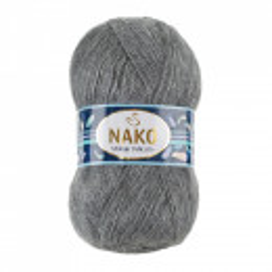 Fir de tricotat sau crosetat - Fire tip mohair acril NAKO MOHAIR DELICATE - GRI COD 194