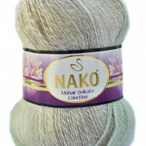 Fir de tricotat sau crosetat - Fire tip mohair acril NAKO MOHAIR DELICATE COLORFLOW DEGRADE 28093