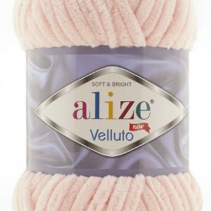 Fir de tricotat sau crosetat - Fire tip mohair din acril ALIZE VELLUTO ROZ 340
