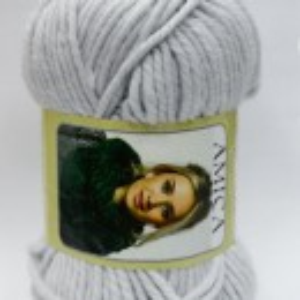 Fir de tricotat sau crosetat - Fire tip mohair din acril AMICA GRI - 331