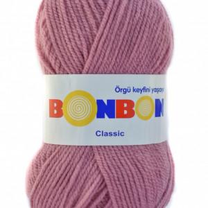Fir de tricotat sau crosetat - Fire tip mohair din acril BONBON CLASIC ROZ 98224