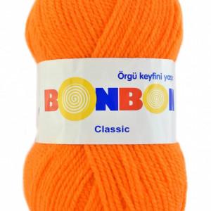 Fir de tricotat sau crosetat - Fire tip mohair din acril BONBON CLASIC PORTOCALIU 98215