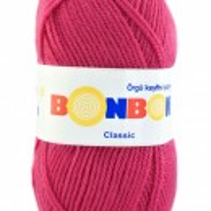 Fir de tricotat sau crosetat - Fire tip mohair din acril BONBON CLASIC ROZ 98319