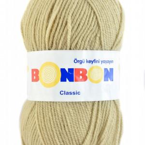 Fir de tricotat sau crosetat - Fire tip mohair din acril BONBON CLASIC BEJ 98209