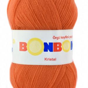 Fir de tricotat sau crosetat - Fire tip mohair din acril BONBON KRISTAL portocaliu 98212