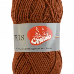 Fir de tricotat sau crosetat - Fire tip mohair din acril CANGURO - TRIS MARO 320