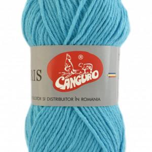 Fir de tricotat sau crosetat - Fire tip mohair din acril CANGURO - TRIS ALBASTRU 337