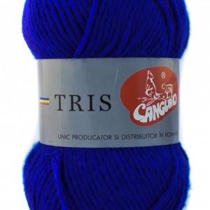 Fir de tricotat sau crosetat - Fire tip mohair din acril CANGURO - TRIS ALBASTRU 338