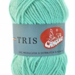 Fir de tricotat sau crosetat - Fire tip mohair din acril CANGURO - TRIS BLEO 386