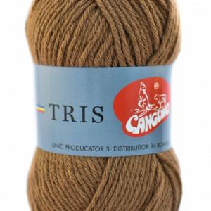 Fir de tricotat sau crosetat - Fire tip mohair din acril CANGURO - TRIS BEJ 379