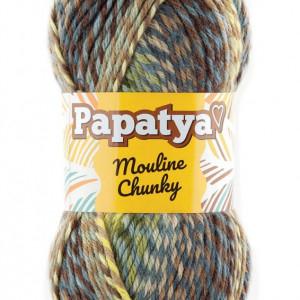 Fir de tricotat sau crosetat - Fire tip mohair din acril Kamgarn Papatya Mouline Chunky Degrade 6070