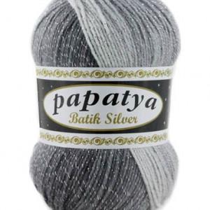 Fir de tricotat sau crosetat - Fire tip mohair din acril Kamgarn Papatya Silver Batik degrade 01