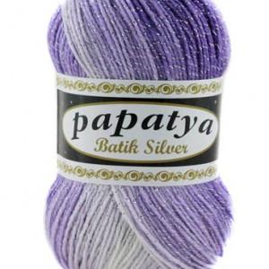Fir de tricotat sau crosetat - Fire tip mohair din acril Kamgarn Papatya Silver Batik degrade 08