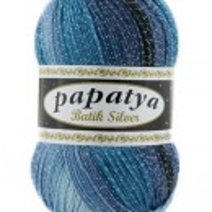 Fir de tricotat sau crosetat - Fire tip mohair din acril Kamgarn Papatya Silver Batik degrade 19
