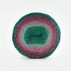Fir de tricotat sau crosetat - Fire tip mohair din acril Kamgarn Papatya CAKE SILVER degrade 305