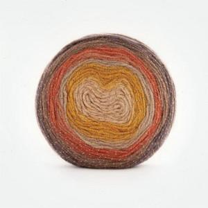 Fir de tricotat sau crosetat - Fire tip mohair din acril Kamgarn Papatya CAKE SILVER degrade 314