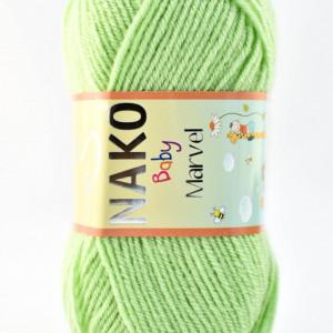 Fir de tricotat sau crosetat - Fire tip mohair din acril Nako Baby MARVEL VERDE 10154