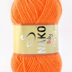 Fir de tricotat sau crosetat - Fire tip mohair din acril Nako Baby MARVEL PORTOCALIU (FLUO) 4566