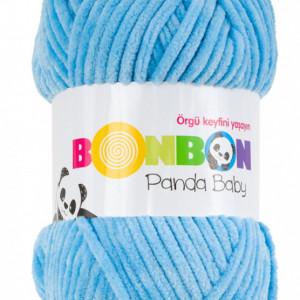 Fir de tricotat sau crosetat - Fire tip mohair din acril NAKO BONBON PANDA BABY BLEO 3123