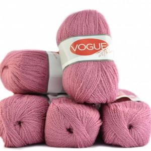 Fir de tricotat sau crosetat - Fire tip mohair din acril Nako Export - #7333-ROZ