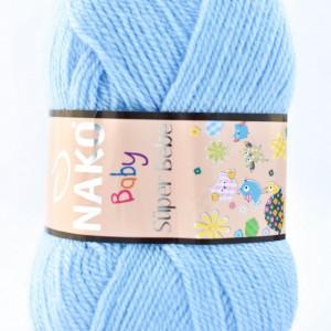 Fir de tricotat sau crosetat - Fire tip mohair din acril Nako SUPER BEBE BLEO 214