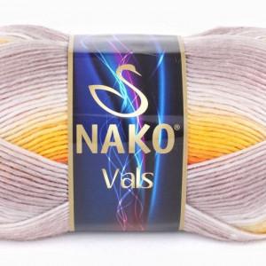 Fir de tricotat sau crosetat - Fire tip mohair din acril premium Nako VALS DEGRADE 86041