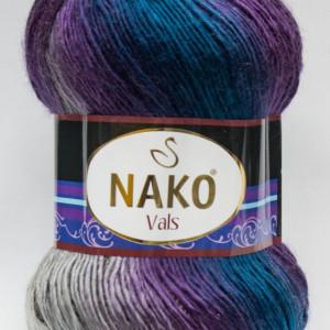 Fir de tricotat sau crosetat - Fire tip mohair din acril premium Nako VALS DEGRADE 86385
