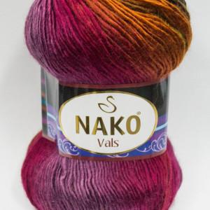 Fir de tricotat sau crosetat - Fire tip mohair din acril premium Nako VALS DEGRADE 86464