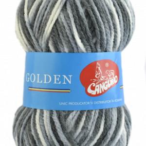 Fir de tricotat sau crosetat - Fire tip mohair din acril si lana GOLDEN WOOL IMPRIMAT - 358