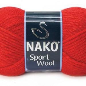 Fir de tricotat sau crosetat - Fire tip mohair din acril si lana Nako Sport Wool ROSU 1140
