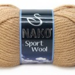 Fir de tricotat sau crosetat - Fire tip mohair din acril si lana Nako Sport Wool BEJ 221
