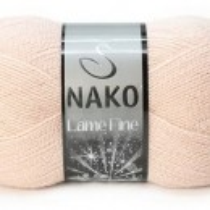Fir de tricotat sau crosetat - Fire tip mohair din acril si poliester metalic NAKO LAME FINE BEJ 5480SE