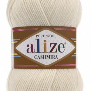 Fir de tricotat sau crosetat - Fire tip mohair din lana 100%, Alize CASHMIRA CREAM 01