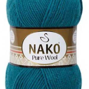 Fir de tricotat sau crosetat - Fire tip mohair din lana 100% Nako PURE WOOL 5400