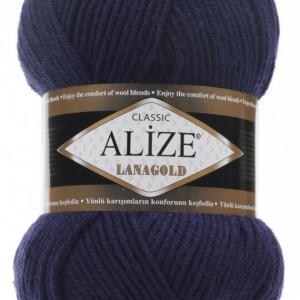 Fir de tricotat sau crosetat - Fire tip mohair din lana 49% si acril 51% Alize Lanagold Bleomaren 590