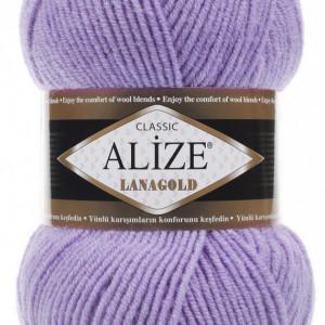Fir de tricotat sau crosetat - Fire tip mohair din lana 49% si acril 51% Alize Lanagold Lila 166